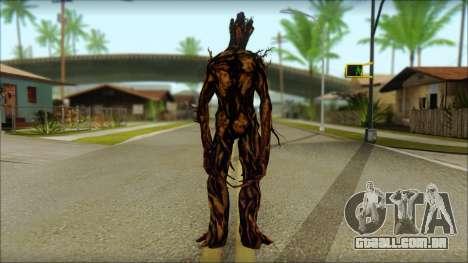Guardians of the Galaxy Groot v2 para GTA San Andreas segunda tela