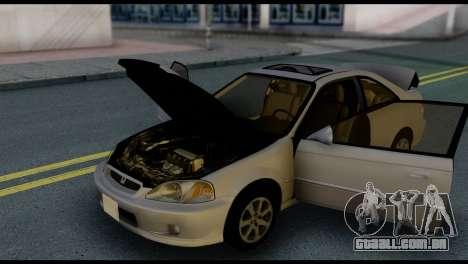 Honda Civic Si 1999 para GTA San Andreas vista inferior