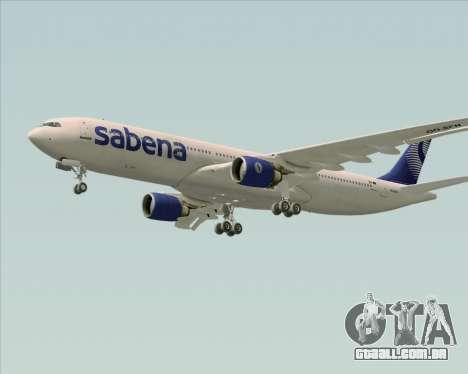Airbus A330-300 Sabena para GTA San Andreas vista interior