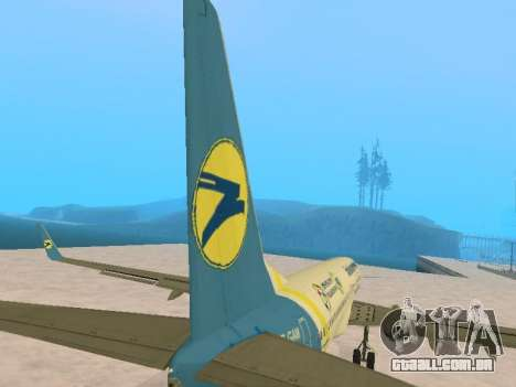 Boeing 737-84R Ukraine International Airlines para GTA San Andreas vista superior