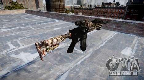 Automatic rifle Colt M4A1 zumbis para GTA 4 segundo screenshot