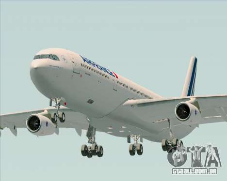 Airbus A340-313 Air France (New Livery) para GTA San Andreas vista traseira