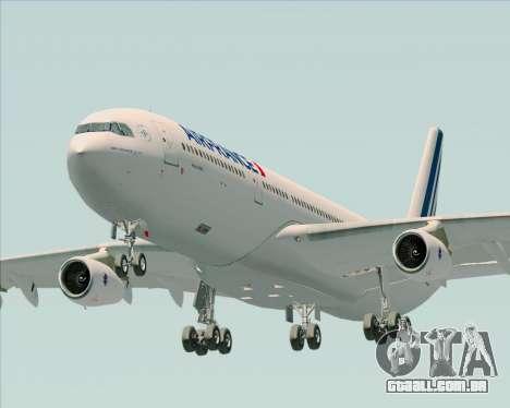 Airbus A340-313 Air France (New Livery) para GTA San Andreas vista traseira