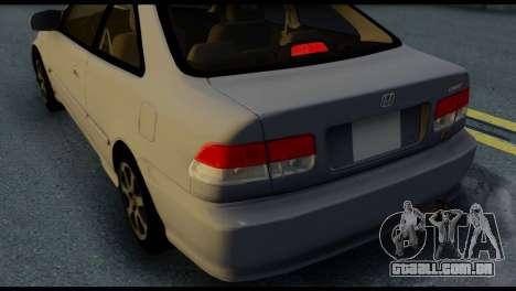 Honda Civic Si 1999 para GTA San Andreas vista superior