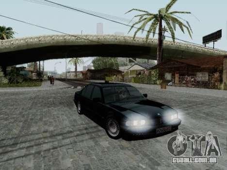 BMW 760i E38 para GTA San Andreas esquerda vista