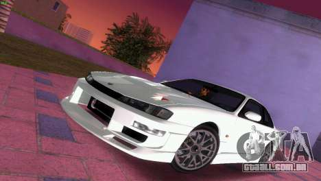 Nissan Silvia S14 RB26DETT Black Revel para GTA Vice City vista inferior