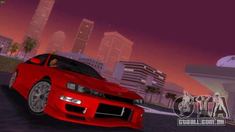 Nissan Silvia S14 RB26DETT Black Revel para GTA Vice City vista interior