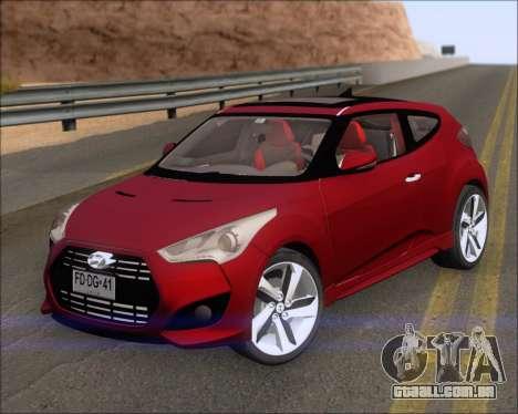 Hyundai Veloster 2013 para GTA San Andreas esquerda vista