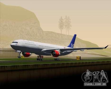 Airbus A330-300 Scandinavian Airlines System. para GTA San Andreas vista superior