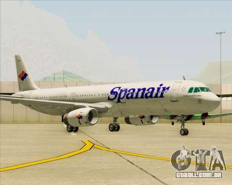 Airbus A321-231 Spanair para GTA San Andreas esquerda vista