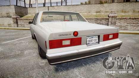Chevrolet Impala 1985 para GTA 4 traseira esquerda vista