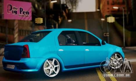 Dacia Logan 1.6 para GTA San Andreas esquerda vista