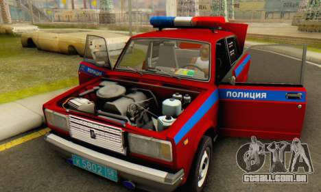 VAZ 2107 Polícia para vista lateral GTA San Andreas