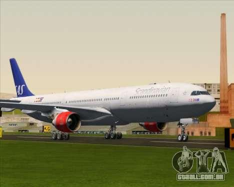 Airbus A330-300 Scandinavian Airlines System. para GTA San Andreas esquerda vista