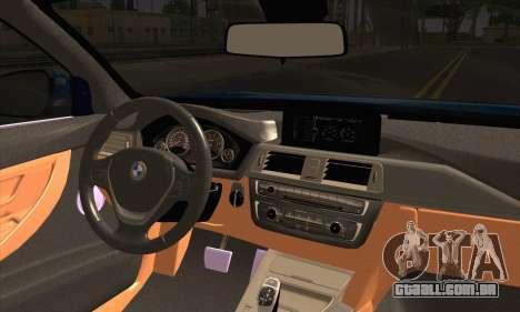 BMW 435i Stance para GTA San Andreas traseira esquerda vista