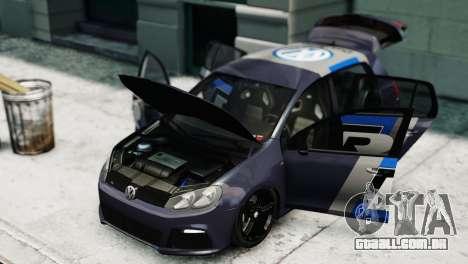 Volkswagen Golf R 2010 Polo WRC Style PJ2 para GTA 4 vista direita