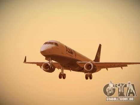 Embraer E190 Azul Brazilian Airlines para GTA San Andreas esquerda vista