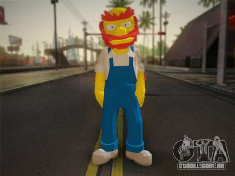 O Zelador Willy De Os Simpsons: Road Rage) para GTA San Andreas