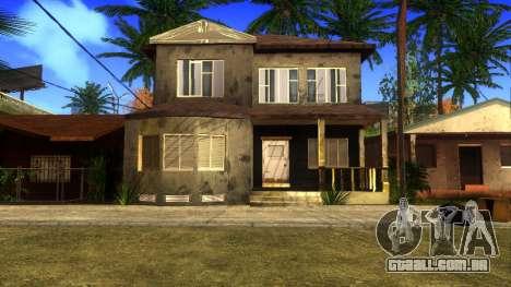 Novas texturas HD casas na grove street v2 para GTA San Andreas oitavo tela