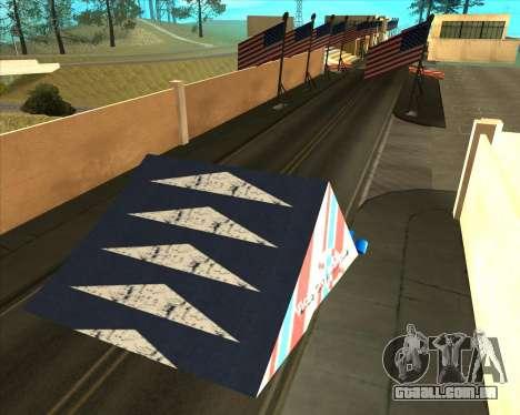 Sky Road Merdeka para GTA San Andreas sexta tela