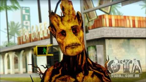 Guardians of the Galaxy Groot v2 para GTA San Andreas terceira tela