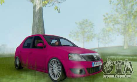 Dacia Logan 2013 para GTA San Andreas vista direita