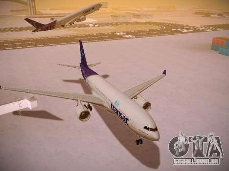 Airbus A330-200 Air Transat para GTA San Andreas vista traseira