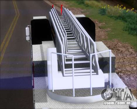 Pierce Arrow XT TFD Ladder 1 para GTA San Andreas traseira esquerda vista
