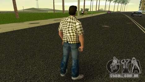 Kockas polo - citrom sarga T-Shirt para GTA Vice City terceira tela