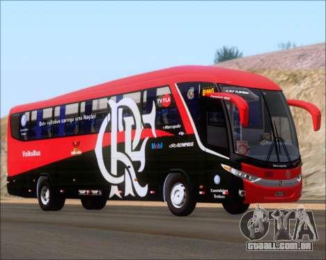 Marcopolo Paradiso 1200 G7 4X2 C.R.F Flamengo para GTA San Andreas traseira esquerda vista