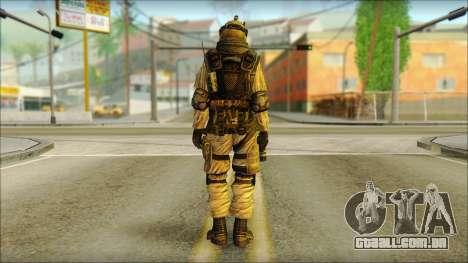 Mercenário (SC: Blacklist) v3 para GTA San Andreas segunda tela