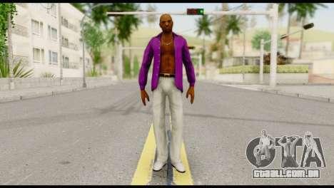 Purple Shirt Vic para GTA San Andreas