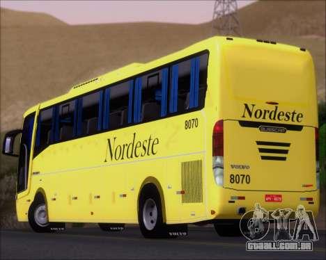 Busscar Elegance 360 Viacao Nordeste 8070 para o motor de GTA San Andreas