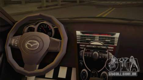 Mazda RX-8 Drift para GTA San Andreas traseira esquerda vista