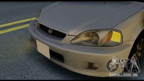 Honda Civic Si 1999 para GTA San Andreas vista traseira