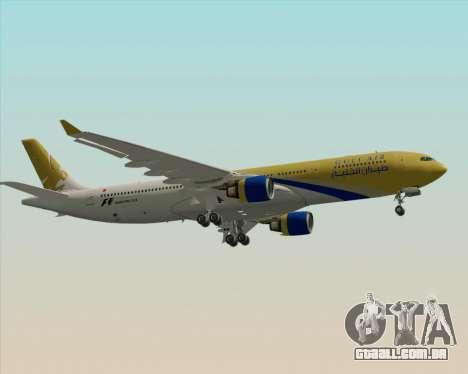 Airbus A330-300 Gulf Air para GTA San Andreas vista traseira