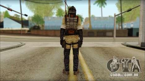 Mercenário (SC: Blacklist) v1 para GTA San Andreas segunda tela