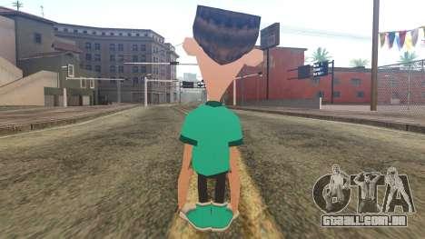 Sheen from Jimmy Neutron para GTA San Andreas segunda tela