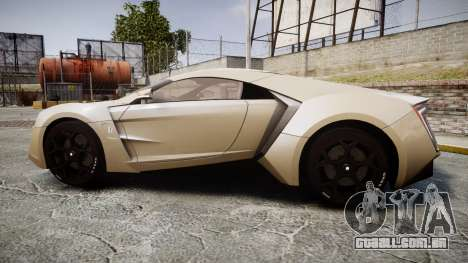 Lykan HyperSport para GTA 4 esquerda vista