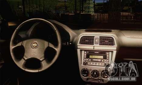 Subaru Impreza Wagon 2002 para GTA San Andreas traseira esquerda vista