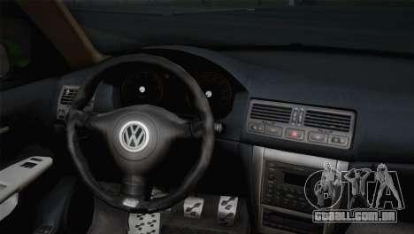 Volkswagen Golf 4 R32 Low v2 para GTA San Andreas traseira esquerda vista