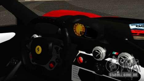 Ferrari LaFerrari 2014 (IVF) para GTA San Andreas traseira esquerda vista