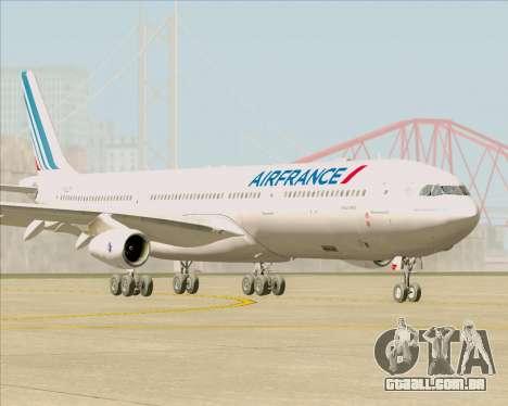 Airbus A340-313 Air France (New Livery) para GTA San Andreas esquerda vista