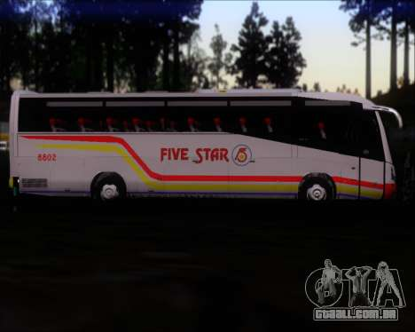 Irizar MQ2547 Five Star 8802 para GTA San Andreas vista inferior