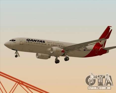 Boeing 737-838 Qantas para as rodas de GTA San Andreas