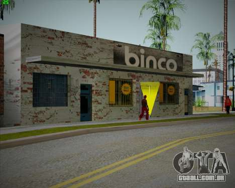 Quebrado loja Binco para GTA San Andreas terceira tela