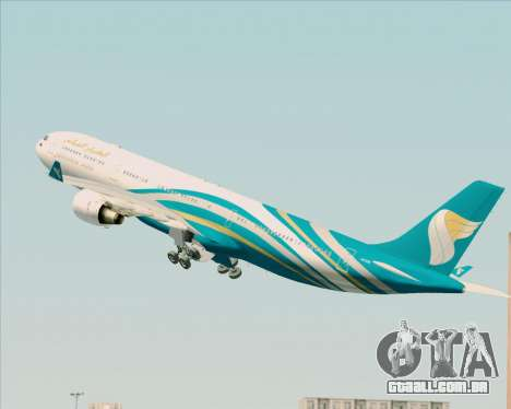 Airbus A330-300 Oman Air para GTA San Andreas interior