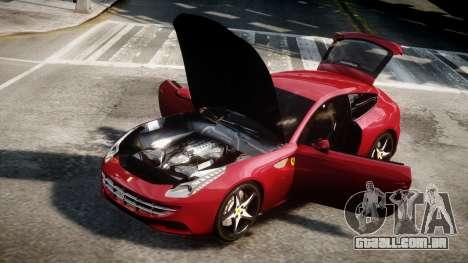 Ferrari FF 2011 v1.5 para GTA 4 traseira esquerda vista