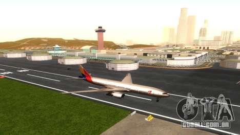 Boeing 777-280ER Asiana Airlines para GTA San Andreas vista interior
