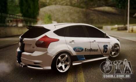 Ford Focus ST Eco Boost para GTA San Andreas esquerda vista
